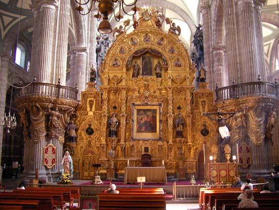 Der Retra Tabulus der Kathedrale von Mexiko City