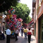 Fußgängerzone von Puebla Mexiko