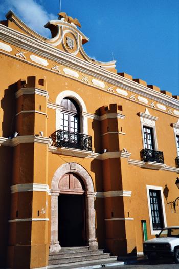 Häuserfassade in Mexiko