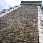Blick auf die Stufen der Kuhulcan Pyramide