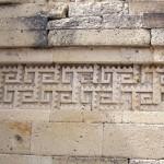 Mosaike an den Wänden in Mitla