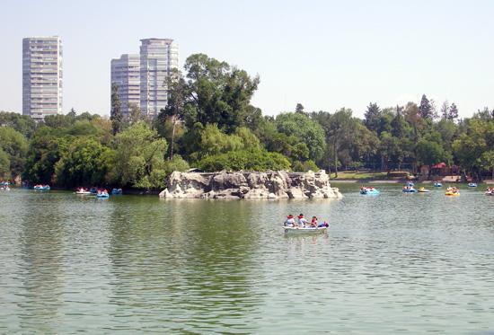See im Chapultepec Park zum Bootfahren