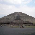 Die Sonnenpyramide in Teotihuacan