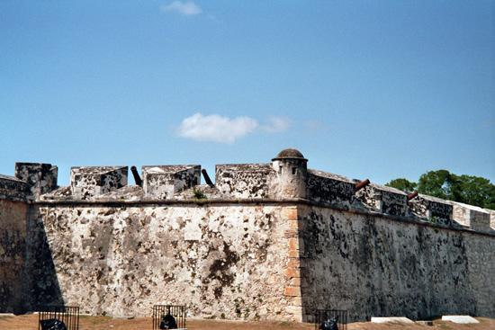 Stadtmauer in Mexiko