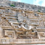 Reflief in Uxmal Mexiko