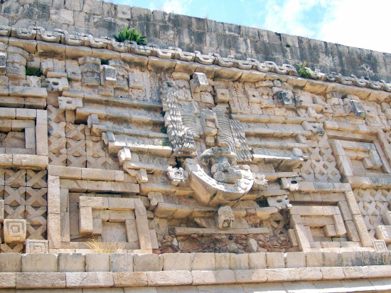 Reflief in Uxmal Mexiko