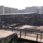 Alte Atzekenpyramide im Zentrum von Mexiko City