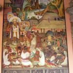Wandgemälde Diego Riveras im Regierungspalast